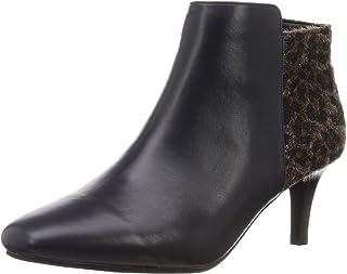 [东方领带] 短靴 细跟 方形 漂亮 模式 女士 靴子 简单