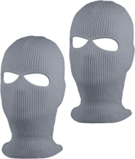 SUNTRADE 2 孔*罩针织滑雪面罩,冬季巴拉克拉瓦保暖面罩,适合户外运动