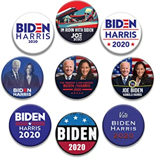 Biden Harris 纽扣别针 2020 总统运动纽扣投票胸针
