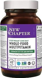 New Chapter 女士复合维生素+机体支持–每位妇女每天都可以食用的全食品和益生元+铁+ B维生素+Non-GMO成分-48粒(包装可能有所不同)
