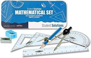 Premier Stationery 学生解决方案数学套装,9件打印机蓝色