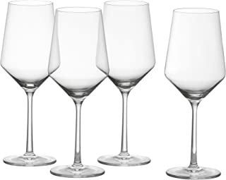 Schott Zwiesel Tritan Crystal Glass Pure Stemware Collection Cabernet/All Purpose, Red or White Wine Glass, 18.2-Ounce, Se...