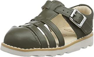 Clarks 男童 Crown Stem T 皮带凉鞋
