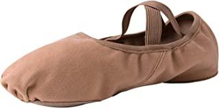 STELLE 拉伸帆布分离式鞋底芭蕾舞鞋拖鞋 适合成年女孩