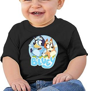 HENWS 可爱卡通狗图案婴儿短袖衬衫幼儿 T 恤适合男宝宝 (6m-2t)