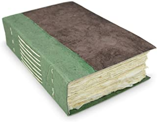 尼泊利寻路者日记,带超厚手工洛克塔纸,5x8英寸(约12.7x20.3厘米)写作日记。尼泊尔制造。