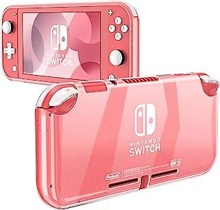 Fintie Grip 手机壳,适用于 Nintendo Switch Lite 2019 - 软 TPU [晶莹剔透] 减震和防刮保护壳,适用于 Switch Lite 控制台 2019 ,闪亮透明