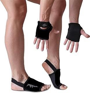 YogaPaws SkinThin 防滑瑜伽手套和瑜伽袜 适用于瑜伽、热瑜伽、Crossfit、骑行以及汗水双手和脚部
