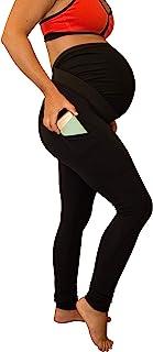 Mumberry 孕妇打底裤运动装,全肚皮覆盖和支撑带口袋,美国制造