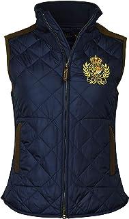 Polo Ralph Lauren 保罗拉夫劳伦女士皮革镶边绗缝徽标背心