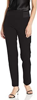 SLIM-SATION 女式侧弹性腰纯色加厚 Ponte 裤子
