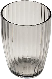 Sweet Home Collection 罗纹亚克力浴室耐用防刮现代套装或个人浴室配件,玻璃杯,黑色