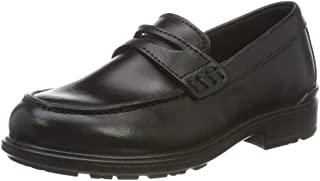 ECCO 爱步 男童 Cohen Black Santiago Loafer 乐福鞋