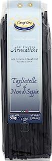 Camp'Oro Le Aromatiche Black Squid Ink Tagliatelle Italian Pasta, Black Squid Ink, 17.6 Ounce