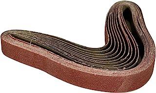 POWERTEC 111290 3.08 x 76.20 厘米砂带   80 粒氧化铝砂带   高级砂纸 – 10 包