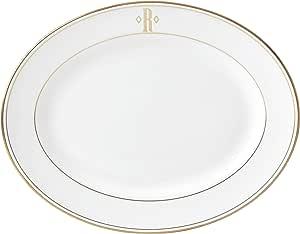 Lenox 联邦金块交织字母餐具 字母 R 874137