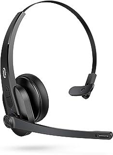 TaoTronics 卡车司机蓝牙耳机带麦克风,无线手机耳机降噪麦克风,入耳式蓝牙耳机蓝牙 5.0 34H 适用于家庭办公室在线课堂 PC 呼叫中心 Skype