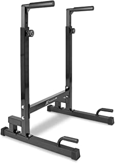 ProsourceFit Power Dip Station 可调节高度上身设备,适用于家庭健身房。