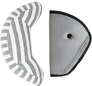 ZWZCYZ 儿童*带枕和*带调节器,汽车座椅旅行枕颈部支撑垫,*腰带*枕和汽车调节器,*带套(2 件)