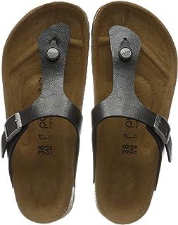 Birkenstock 女士 Tongs Gizeh Birko-Flor 优雅甘草凉鞋