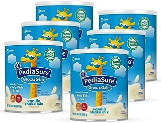 Similac 雅培 PediaSure Grow & Gain 无麸质儿童营养奶粉,含蛋白质,DHA,维生素和矿物质,香草味,14.1盎司/400g,6件装