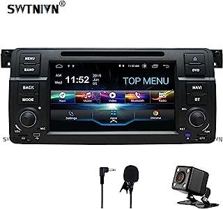 SWTNVIN 安卓 10.0 汽车立体声兼容宝马 3 系列 1999 2000 2001 2002 2003 2004(E46) Rover75 MG ZT 2G RAM 32G ROM 7 英寸高清车载收音机支持 BT GPS TPMS 方...