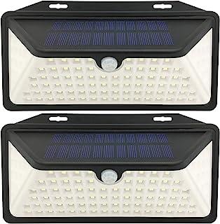 WBM Smart 100 LED 太阳能*,IP67 防水户外灯,适用于花园栅栏露台车库,2 件装,白色