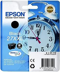 EPSON 爱普生 235M140 Alarm Clock No.27 Ultra打印机墨盒,2X-Large,黑色,Amazon 快速补充服务
