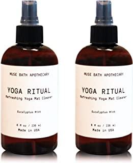 Muse Bath Apothecary Yoga Ritual - 香薰清爽瑜伽垫清洁剂,8 盎司(约 226.8 克),注入天然精油 - 桉树薄荷,2 件装