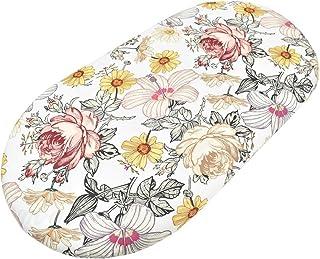 SH-RuiDu 婴儿摇篮床单幼儿印花床单柔软透气床单,适用于标准婴儿床摇篮床垫