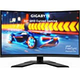 GIGABYTE 技嘉 G32QC 32 英寸 165Hz 1440P 弧形游戏显示器,2560 x 1440 VA 1…