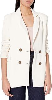 ASTR 标签女式有领长袖双排扣星座外套