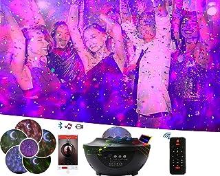 Autlet 星空舞台灯光投影仪 Galaxy 卧室投影机 多星照明模式 带蓝牙扬声器和月亮星云夜灯 适用于圣诞节/儿童成人卧室/浅环境