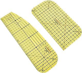 KINAKE 2 件热烫尺,拼缝裁剪工具用于服装制作,DIY 干燥或蒸汽熨烫面料耐热尺拼布缝纫用品配件