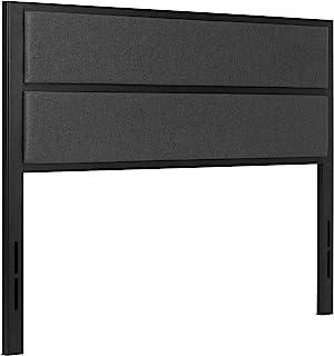 SNYKTY 现代美式风格:软包裹金属床头板! BedHead 软包靠背:P60 规格:双 XL (黑色条纹)匹配:12,14,16,18 厘米高金属床架。