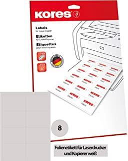 Kores 薄膜标签 白色 激光+复印机 105.0 × 74.0 毫米 10 张 80 张标签