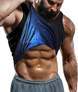 CHOTUA 男士桑拿服汗水锻炼背心腰部训练器收腹背心塑身塑身衣*燃烧器腰部修剪器聚合物