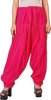 Crocon 女士 纯色 * 纯棉 可调节纱丽 棉 杜帕塔 自由风格 印度巴基斯坦 下装