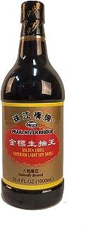 Pearl River Bridge Light Soy Sauce PET Bottle, Golden Label, 33.8 fl. Oz