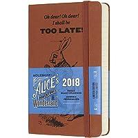 Moleskine 2018年12个月经典硬面日记本 爱丽丝梦游仙境 (口袋型)