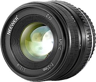 Neewer 35 毫米 F1.4 大光圈 Prime APS-C 铝镜头 兼容富士X 安装无反光相机 X-A1 X-A10 X-A2 X-A3 X-at X-M1 X-M2 X-T10 X-T2 X-T20 X-Pro1 X-E1 X-E2 ...