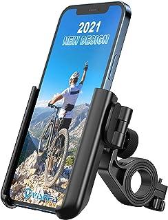 visnfa *自行车手机支架防抖稳定 360° 旋转可调节通用自行车配件/自行车手机支架适用于任何智能手机 GPS 其他设备在 3.5 至 7 英寸之间