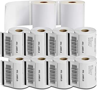 "SJPACK - 兼容 DYMO 1744907(4"" x 6"")运输标签,强力永久粘合和穿孔,与 DYMO 4XL、Rollo & Zebra 桌面打印机兼容 [10 卷/2200 标签]"