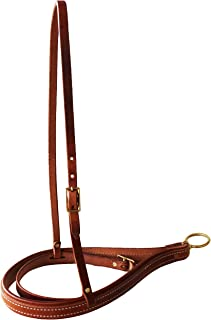 CHALLENGER Horse Amish Horse Western Tack USA Harness Leather Roper Noseband with Cavison 黄铜 975H925。
