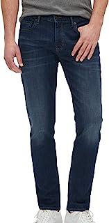 Banana Republic 男式 531867 紧身弹力棉质日常牛仔裤深蓝色水洗