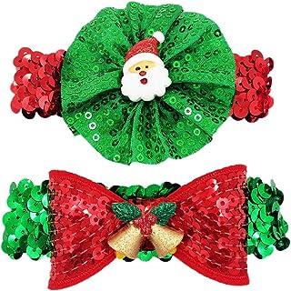 PET SHOW 小狗项链闪亮猫小狗弹性项圈弹性派对服装*配饰2件装 2pcs Christmas
