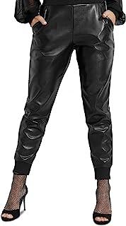 Guess Mica 水晶慢跑裤深黑色 XS 码