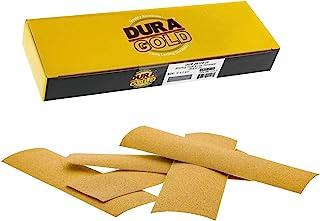 Dura-Gold - 高级 - 120 粒金 - 细节手工打磨钩和环砂纸床单 22.86 厘米 x 6.72 厘米 适用于汽车和木工 - 一盒 25 个