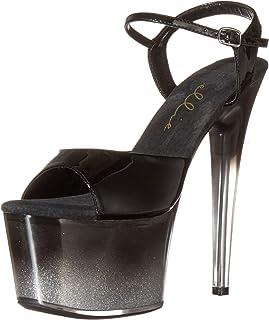 Ellie Shoes 女式踝带防水台凉鞋
