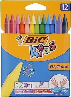 BIC 比克 儿童蜡笔 Plastidecor , 圆形 , 12支/盒 , 12种颜色